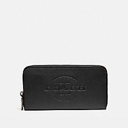 COACH F24648 Accordion Wallet BLACK