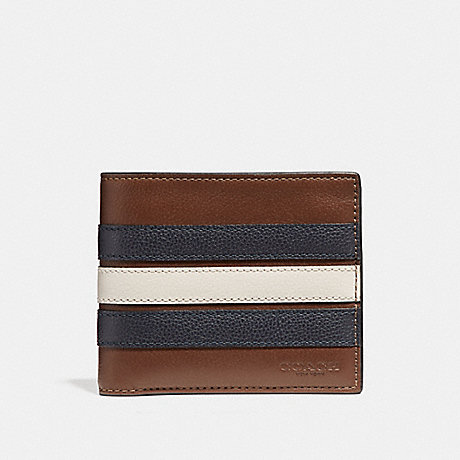 78557671cdd5 COACH F24649 - 3-IN-1 WALLET WITH VARSITY STRIPE - SADDLE MIDNIGHT ...