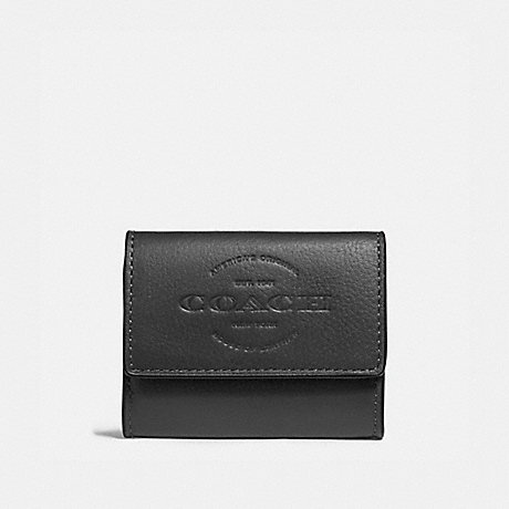 COACH F24652 COIN CASE BLACK