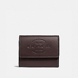 COACH F24652 Coin Case OXBLOOD/BLACK ANTIQUE NICKEL