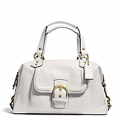 COACH F24690 Campbell Leather Satchel BRASS/IVORY
