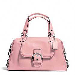 COACH F24690 - CAMPBELL LEATHER SATCHEL SILVER/PINK TULLE