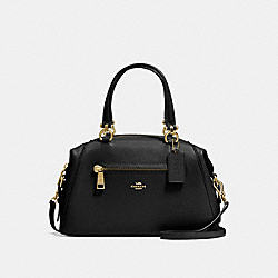 PRIMROSE SATCHEL - f24769 - BLACK/LIGHT GOLD