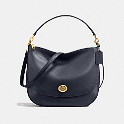 COACH F24771 Turnlock Hobo NAVY/LIGHT GOLD
