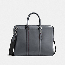 COACH F24776 Metropolitan Slim Brief BLACK ANTIQUE NICKEL/GRAPHITE