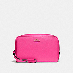 COACH F24797 Boxy Cosmetic Case PINK RUBY/GOLD
