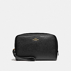 COACH F24797 Boxy Cosmetic Case 20 BLACK/IMITATION GOLD