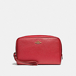 COACH F24797 Boxy Cosmetic Case 20 TRUE RED/IMITATION GOLD