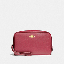 COACH F24797 Boxy Cosmetic Case ROUGE/GOLD