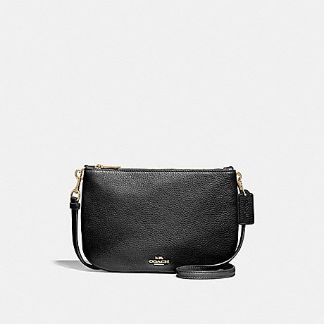 TRANSFORMABLE CROSSBODY - COACH F24799 - BLACK/IMITATION GOLD