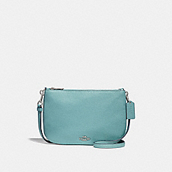 COACH F24799 Transformable Crossbody SILVER/AQUAMARINE