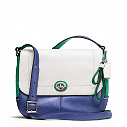 COACH F24801 Park Colorblock Violet SILVER/FRENCH BLUE MULTI