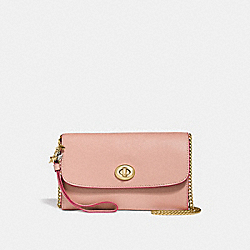 CHAIN CROSSBODY WITH CHARMS - f24802 - nude pink/imitation gold