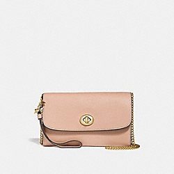 COACH F24802 - CHAIN CROSSBODY WITH CHARMS BEECHWOOD/LIGHT GOLD