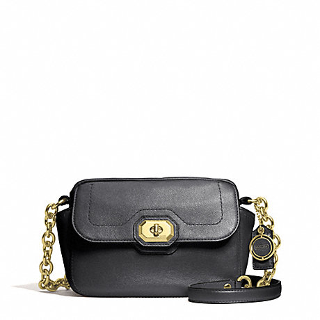 COACH F24843 CAMPBELL TURNLOCK LEATHER CAMERA BAG BRASS/BLACK