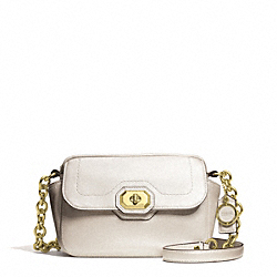COACH F24843 Campbell Turnlock Leather Camera Bag BRASS/PEARL
