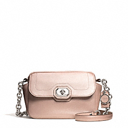 COACH F24843 - CAMPBELL TURNLOCK LEATHER CAMERA BAG SILVER/BLUSH