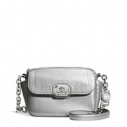 COACH F24843 - CAMPBELL TURNLOCK LEATHER CAMERA BAG SILVER/PLATINUM