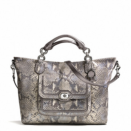 COACH CAMPBELL EXOTIC LEATHER IZZY FASHION SATCHEL -  - f24852
