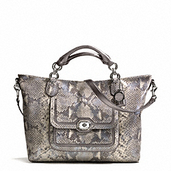COACH F24852 Campbell Exotic Leather Izzy Fashion Satchel