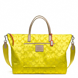 COACH F24863 Legacy Weekend Signature Nylon Weekender Tote