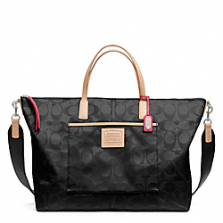 COACH F24863 Weekend Signature Nylon Weekender Tote