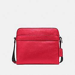 COACH F24876 Charles Camera Bag TRUE RED/BLACK ANTIQUE NICKEL