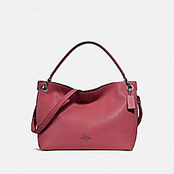 COACH F24947 Clarkson Hobo WASHED RED/DARK GUNMETAL