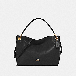 CLARKSON HOBO - F24947 - BLACK/LIGHT GOLD