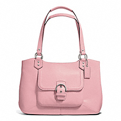 COACH F24961 - CAMPBELL LEATHER BELLE CARRYALL SILVER/PINK TULLE