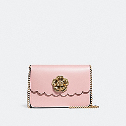 BOWERY CROSSBODY WITH TEA ROSE TURNLOCK - F24976 - PEONY/OLD BRASS