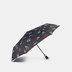 COACH F24997 Black Sparrow Umbrella SILVER/BLACK