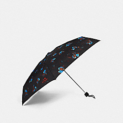 COACH F24998 Mini Black Sparrow Umbrella SILVER/BLACK