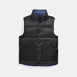 COACH F25003 Reversible Down Vest BLACK