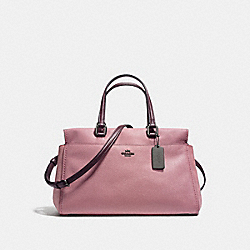 FULTON SATCHEL IN COLORBLOCK - f25006 - DARK GUNMETAL/DUSTY ROSE