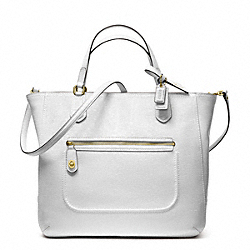 POPPY TEXTURED PATENT SMALL BLAIRE TOTE - f25042 - 17735