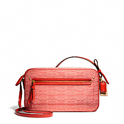 COACH F25043 Poppy Signature C Mini Oxford Flight Bag
