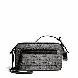 COACH F25043 - POPPY OXFORD SIGNATURE C MINI FLIGHT BAG CROSSBODY SILVER/BLACK/WHITE/BLACK