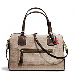COACH F25047 Poppy Signature C Mini Oxford East/west Satchel BRASS/KHAKI/MAHOGANY