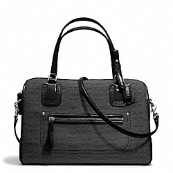 COACH F25047 Poppy Signature C Mini Oxford East/west Satchel SILVER/BLACK/BLACK