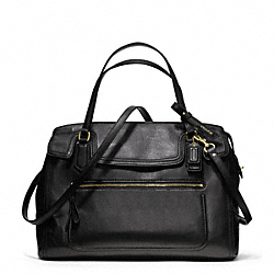 COACH F25048 - POPPY LEATHER FLAP SATCHEL ONE-COLOR
