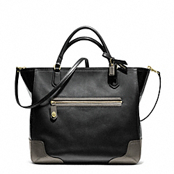 COACH F25053 - POPPY COLORBLOCK LEATHER BLAIRE TOTE ONE-COLOR