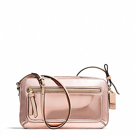 2471b3f67997 COACH F25056 - POPPY MIRROR METALLIC FLIGHT BAG - LIGHT GOLD ROSE ...
