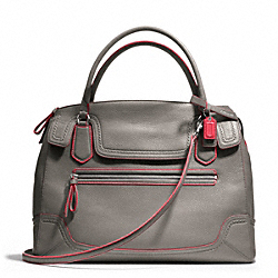 COACH F25058 - POPPY EDGESTAIN LARGE FLAP SATCHEL ONE-COLOR