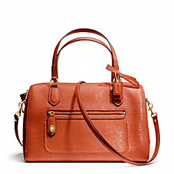 COACH F25062 - POPPY TEXTURED PATENT EAST/WEST SATCHEL ONE-COLOR