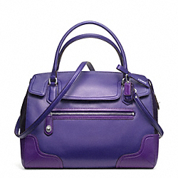 COACH F25073 - POPPY COLORBLOCK LEATHER FLAP SATCHEL RL/BRIGHT ORCHID
