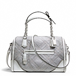 COACH F25080 Poppy Quilted Jersey East/west Pocket Satchel