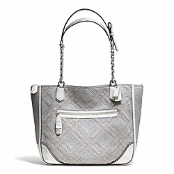 COACH F25081 Poppy Quilted Jersey Small Chain Tote