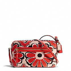 COACH F25121 Poppy Floral Scarf Print Flight Bag