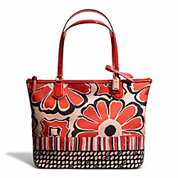 COACH F25123 Poppy Floral Scarf Print Small Tote